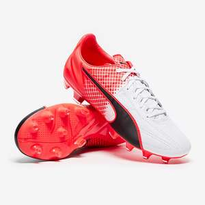 Puma evoSpeed 3.5 Leather Firm Ground Football Boots - Black/White/Red £17.45 delivered @ Pro:Direct Soccer