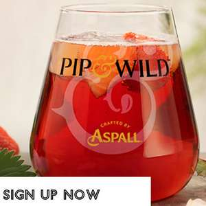 Complimentary / Free Pip & Wild Cider at All Bar One EXTENDED until 30 September, sign up to email