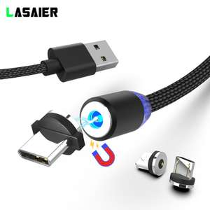 YKZ Magnetic USB Cable For Type C / Iphone / Micro USB Charging @ Aliexpress - 87p