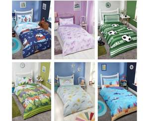 Kids Single Duvet Sets ( Pirate / Unicorn / Football / Jungle / Rainbow / Underwater ) - £5 @ B&M