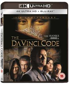 The Da Vinci Code (4K Ultra HD with Blu-ray and UltraViolet Copy (10th Anniversary)) [UHD] - £8.99 @ Zoom