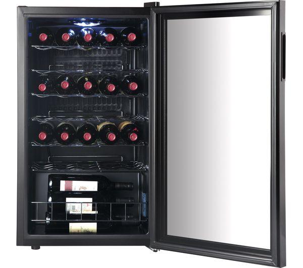 LOGIK LWC34B18 Wine Cooler - Black now £129.98 delivered at Currys
