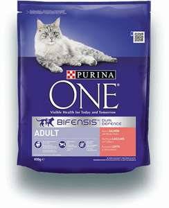 Purina ONE Adult Dry Cat Food Salmon and Wholegrain 3kg - Case of 4 (12kg) Best cat food on the market imo £43.96 @ Amazon