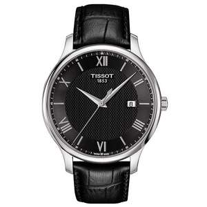 Tissot Men's Stainless Steel Black Strap Watch £135 @ Ernest Jones