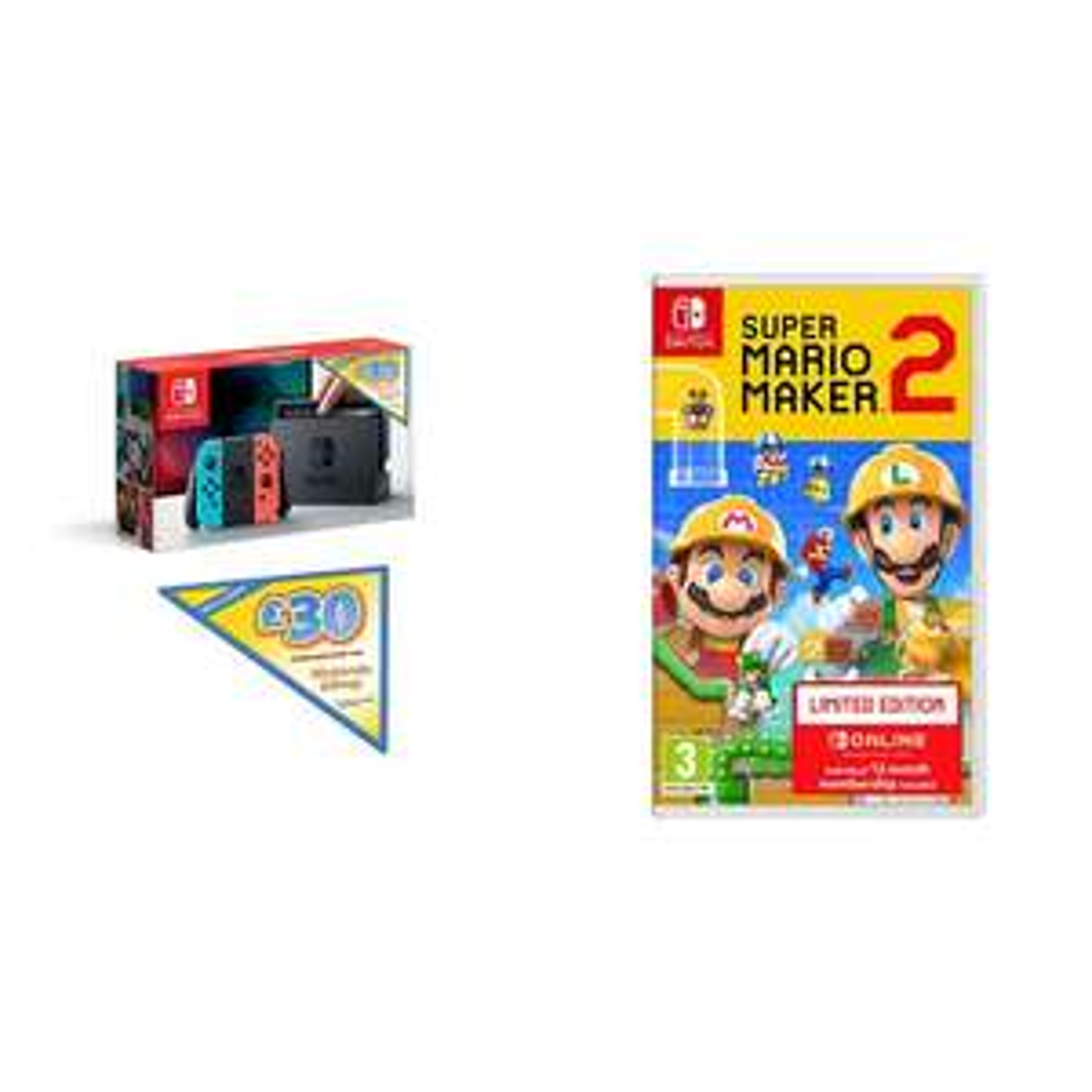 Nintendo Switch + Mario Maker 2 (Limited Edition) + £30 Nintendo E-Shop Credit £299 @ Amazon