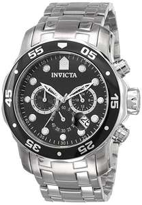 Invicta Pro Diver - Scuba Men's Wrist Watch Stainless Steel Quartz Black Dial £95.99 @ Amazon