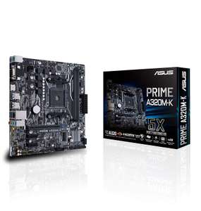 ASUS AMD PRIME A320M-K Ryzen/7th Generation A-Series/Athlon DDR4 GB LAN Micro ATX Motherboard now £37.99 delivered at Amazon