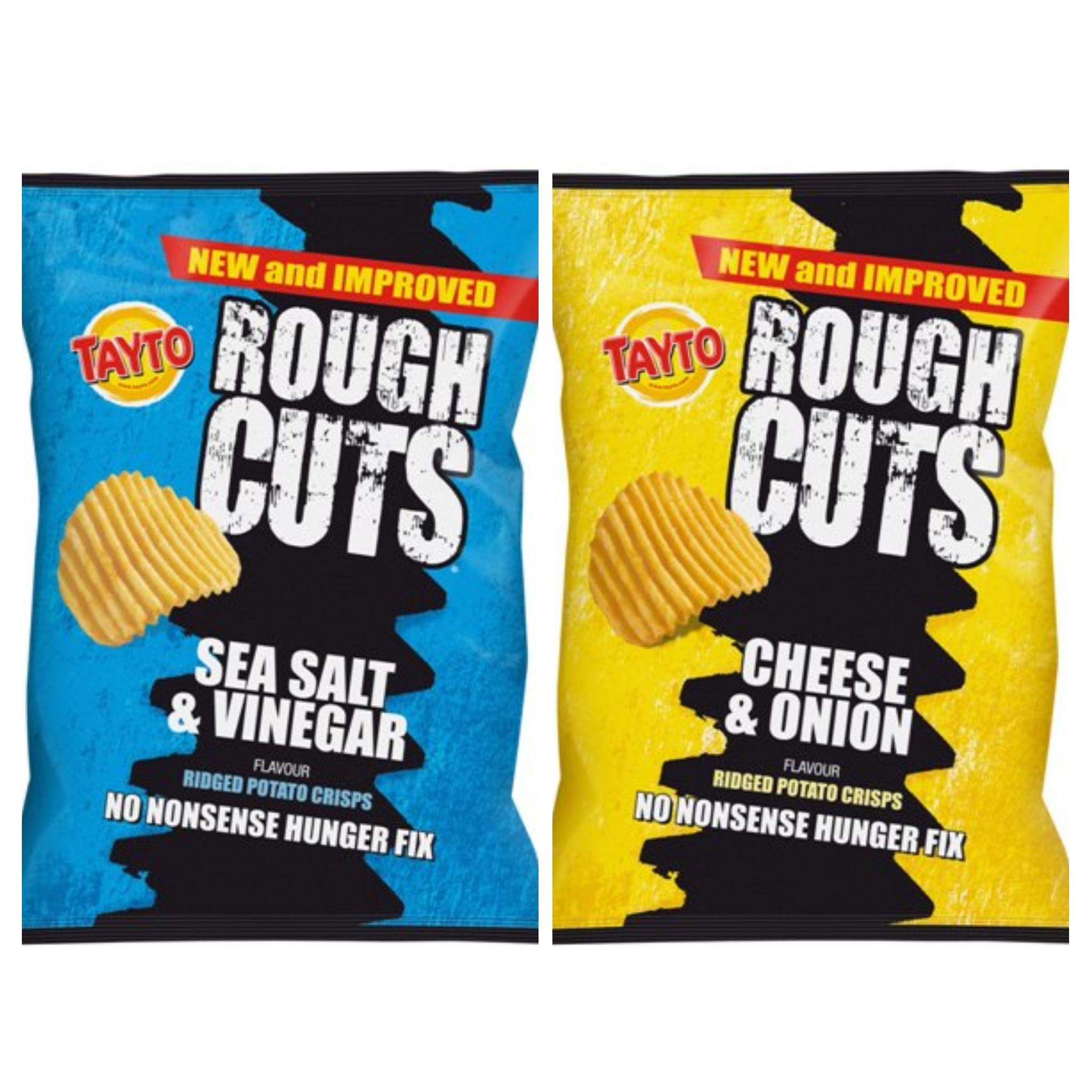 Tayto Rough Cuts Crisps 47.5g - 39p (Cheese & Onion / Salt & Vinegar) @ Home Bargains