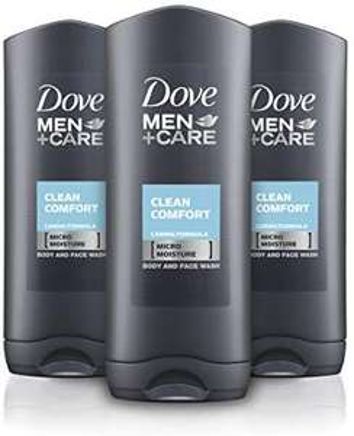 Dove Men + Care Comfort Body and Face Wash, 400 ml Pack of 3 - £5.25 Prime (+ £4.49 Delivery Non-Prime) @ Amazon