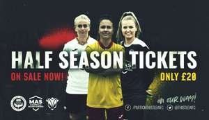 Partick Thistle Women's FC Half-Season Ticket Only £20