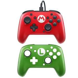 PDP Mario Face Off Nintendo Switch Pro Wired Controller - Red Includes 2 Faceplates £12.99 (more in post) @ Argos