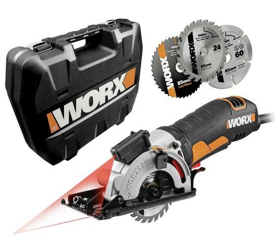 WORX WX426 Worxsaw 400W 85mm Compact Circular Saw - £35 @ Argos (+3 years warranty)