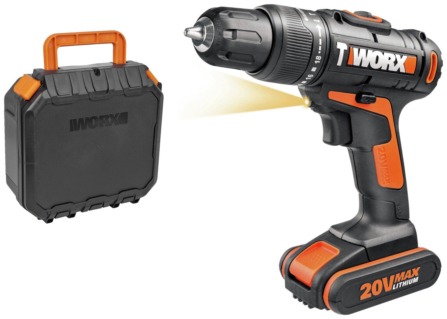WORX WX366.2 1.5Ah Cordless Hammer Drill - 20V for £35 @ Argos (+3 yrs warranty)