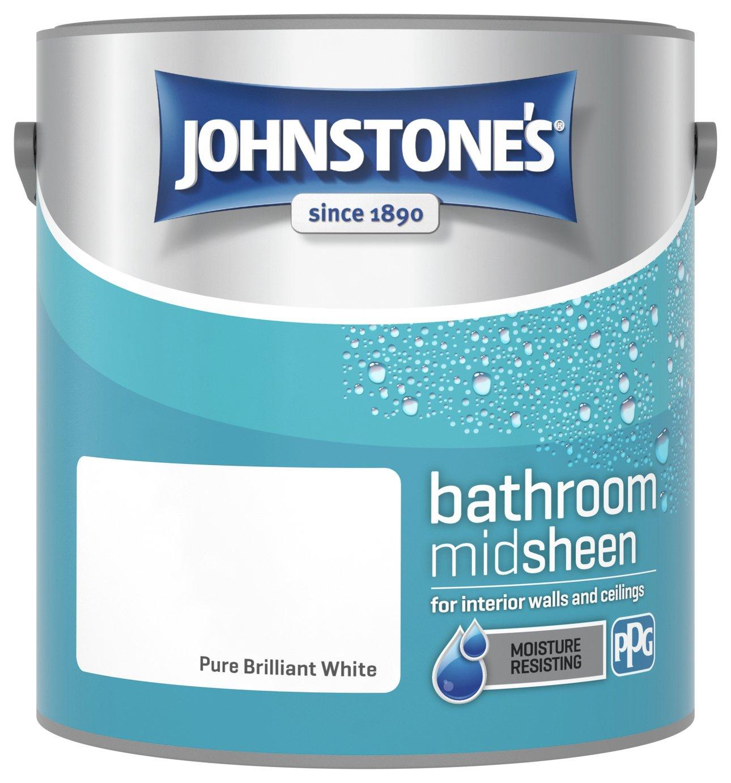 Johnstone's Bathroom Paint 2.5L - Brilliant White £5 @ Argos