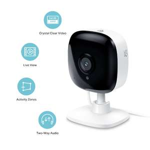 TP-Link Smart Spot Indoor Security Camera - Kasa Spot KC100 £30 for Amazon Prime members (with voucher)