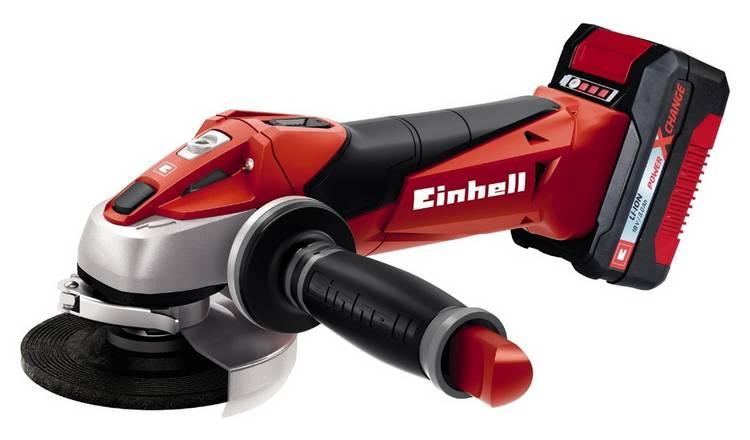 Einhell Power X Change TE - AG 18 Li Angle Grinder Kit, Now £79.99 & 2 Yrs Guarantee @ Argos ( Free C&C )