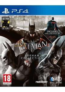 Batman: Arkham Trilogy Collection - Steelbook Edition (PS4/Xbox One) £30.85 Delivered (Preorder) @ Base