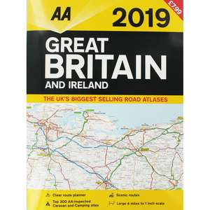 AA 2019 Great Britain and Ireland road atlas - Home Bargains - 79p