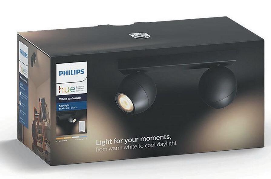 Philips Hue Buckram 5W GU10 Spot Light - Black & White available £79.99 Argos