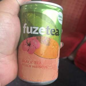 Free can of FuzeTea at Waterloo Station