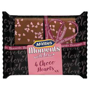 McVitie's Moments Choco Hearts 49p in Home Bargains.