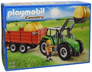 Playmobil 6130 Country Large Tractor with Trailer now £16.66 (Prime) + £4.49 (non Prime) at Amazon