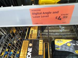 Digital angle and laser level at Aldi in store - £4.99