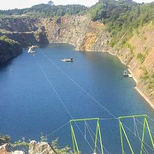 Zip Slide Ride for One (£8.08) or Two (£15.30) at National Diving and Activity Centre using code @ Groupon