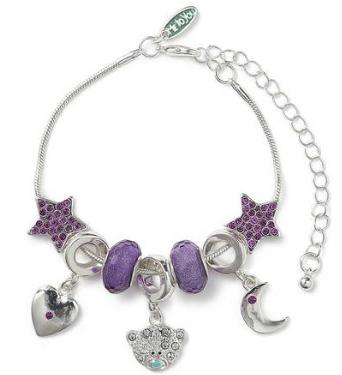 Me to You Tatty Teddy Silver Plated Charm Beaded Bracelet £7.49 @ Argos