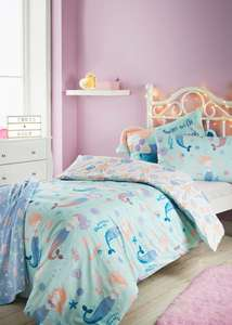 100% Cotton Mermaid Bedding £7 (toddler bed £6) @ Matalan (Dinosaur and Space also reducd)