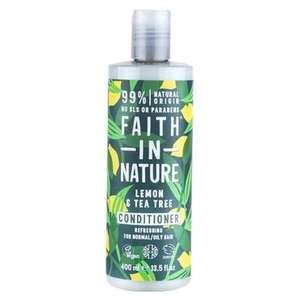 Faith In Nature Lemon & Tea Tree Conditioner 400ml   £1.71 @ Holland and Barrett Less 20% using Code MISSYOU2 plus free delivery
