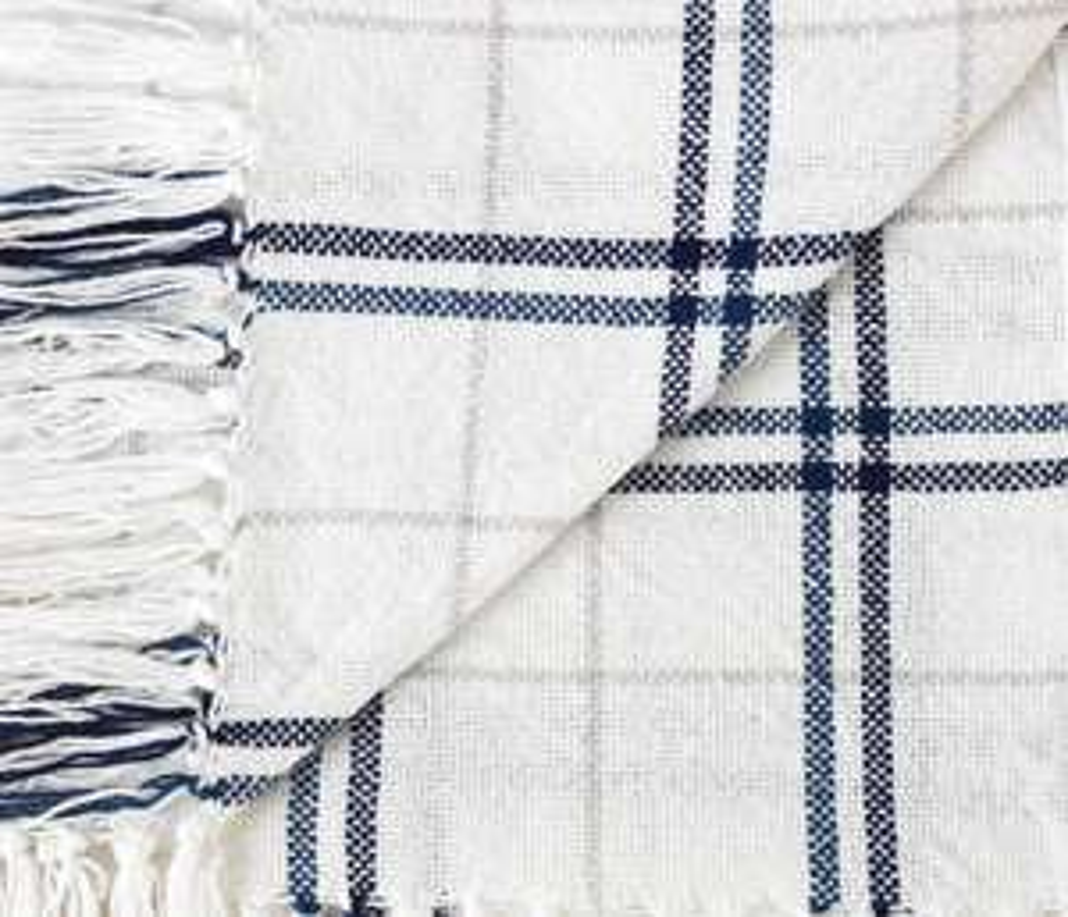 100% Cotton White with Blue Check Throw  £4.80  @ Argos (free C&C)