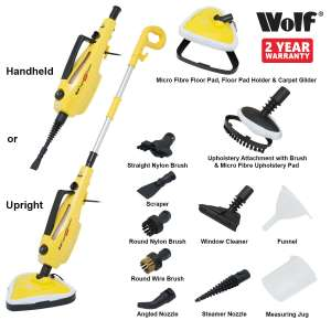 Wolf 1500 watt Super H2OT Steam Cleaner  10 in 1 - £36.94 @ ukhomeshopping eBay