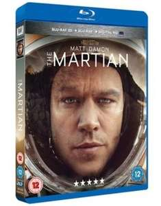 The Martian 3D Blu-ray (New) £4.19 @ MusicMagpie