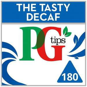 Tesco - PG Tips 180 Decaffeinated Teabags - Better Than Half Price - £2.70