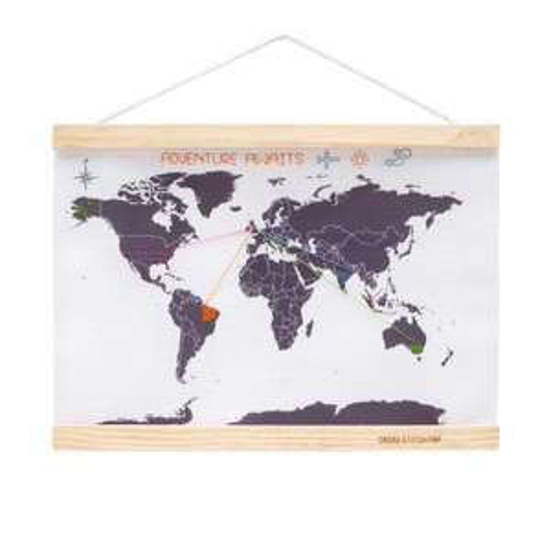 Amazon Treasure Truck - The Suck UK Mini World Map with Cross-stitch Embroidery Kit - £9.99
