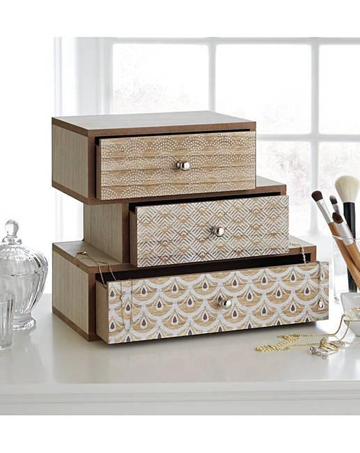 Three Tier Wooden Jewellery Box £6.94 @ Argos - Free C&C