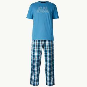 Pure Cotton Checked Pyjama Set Sizes S - XL  £10.00 @ Marks & Spencer (free C&C)
