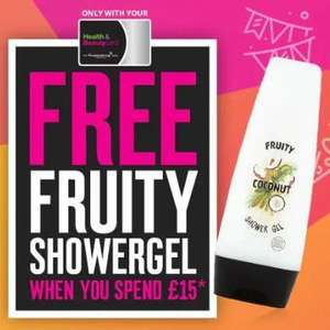 Superdrug Treat Thursday - Free 250ml Fruity Shower Gel with purchases of £15 or more instore and online for members TODAY ONLY