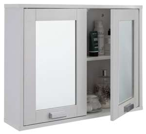2 Door Mirrored Cabinet (White) £10 @ Argos (Free C&C)