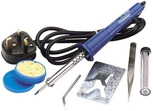 Draper 61257 230V 25W Soldering Iron Kit 25 W now £6.79 (Prime) + £4.49 (non Prime) at Amazon