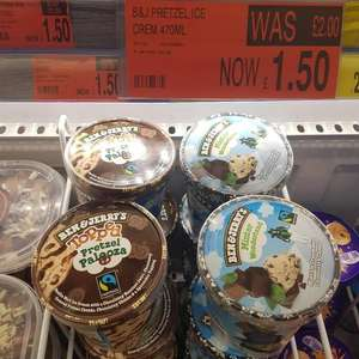 Ben &Jerrys ice cream 470ml £1.50 B&M