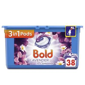 Bold 3 in 1 Lavender and Camomile - Washing Pods - 38 Washes £5 @ Wilko - Free C&C