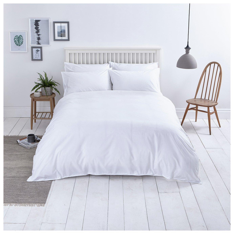 Sainsbury's Home Washed Cotton White or Grey Bedding Set - SuperKing Size £13.50  @ Argos (free C&C)