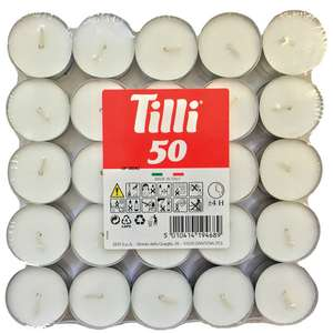 50 Pack Unscented Tealights - 70P + Fee C&C @ Homebase