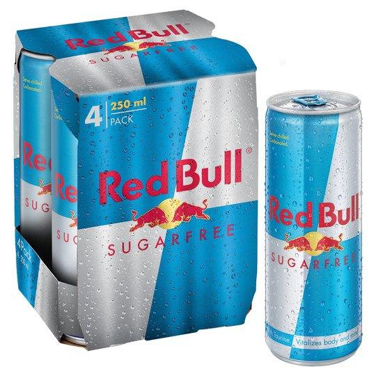 Red Bull sugar free pack × 4 - £3.25 / Regular £3.50 @ ASDA Barking