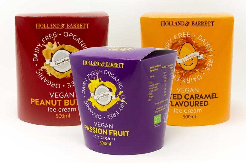 Holland & Barrett vegan ice-cream 500ml now £1.99