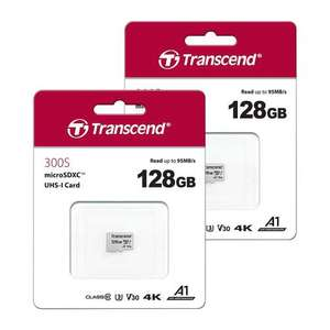 Transcend MicroSDXC Micro SD Memory Card UHS-I U3 V30 A1 Class 10 for 4K HD - 128GB - Value Twin Pack - £23.98 at 7dayShop