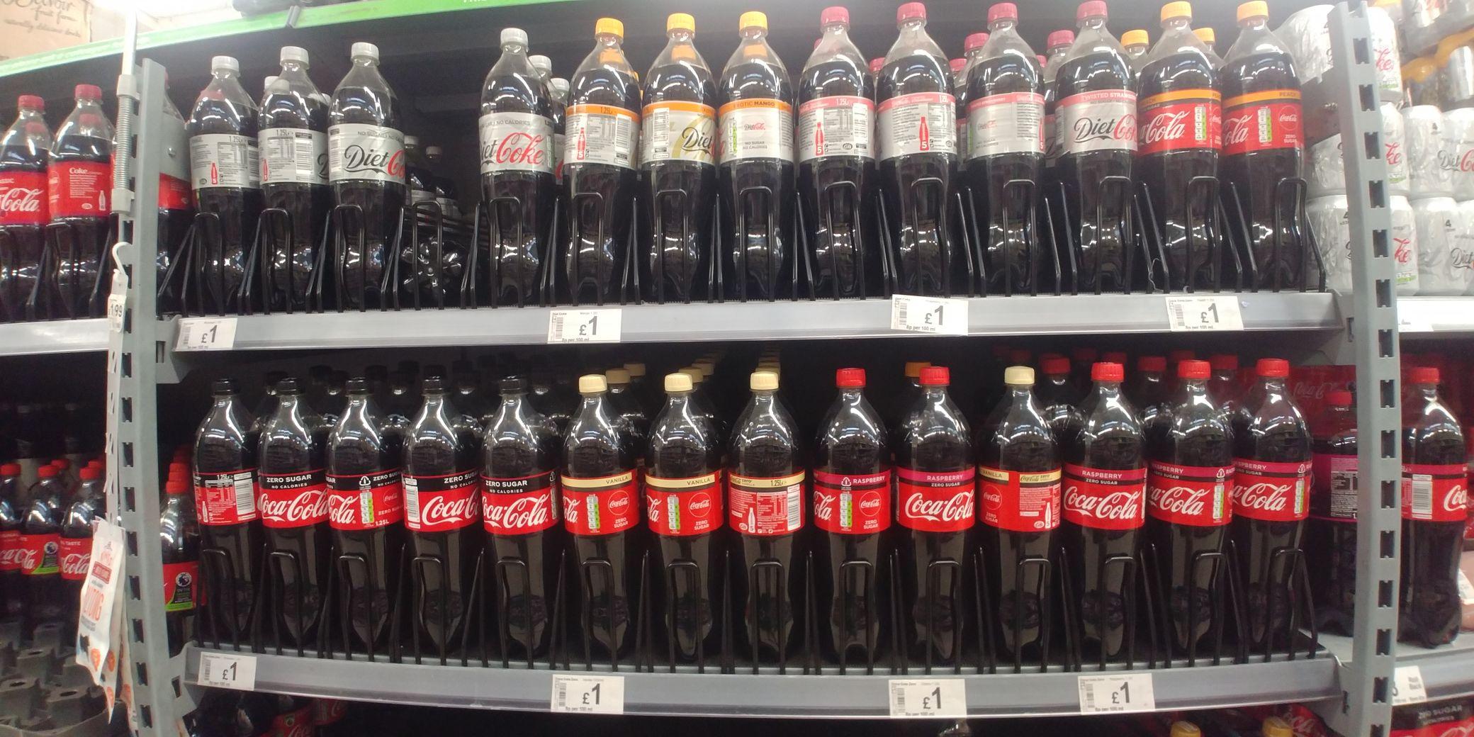 Coke various flavours - £1 - 1.25ml @ ASDA