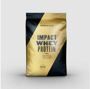 Myprotein Impact Whey Vanilla Protein (Christmas packaging) 1kg x 2 - £14.98 + Free delivery next 2 hours / £3.99